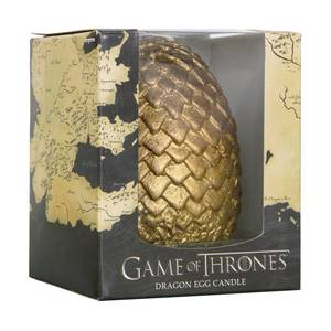 Game of Thrones Sculpted Dragon Gold Egg Candle